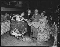 Mayor Fletcher Bowron celebrates Cinco de Mayo, Los Angeles, 1952