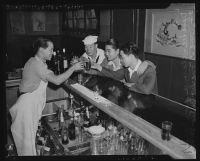 Sailors at a bar in Chinatown. A. 1942.
