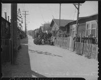 Japanese family evacuates from Terminal Island (Calif.)