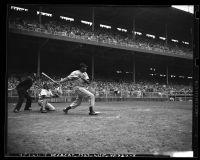 Luscious Luke Easter at bat during Los Angeles Angels vs San Diego Padres, 1949