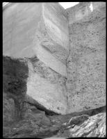 View of the St. Francis Dam after its collapse on March 12, 1928.