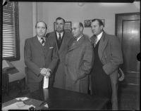 Jerry Geisler, Frank L. James, George Les Bruneman, and Joe Filkas, Los Angeles, 1934