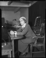 Aimee Semple McPherson, photographed at the witness stand.
